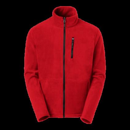 Fleece zip Ames red