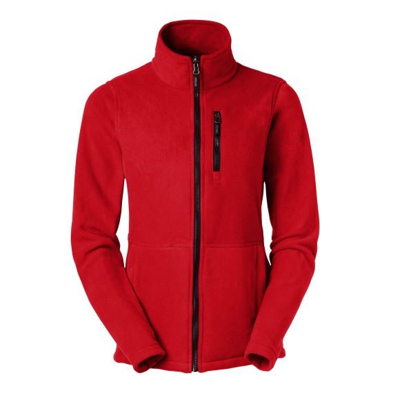 Fleece zip Alma red