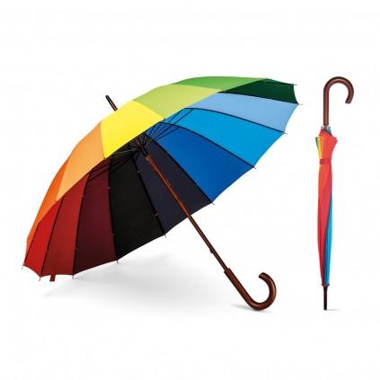 Paraply 16rib - Regnbuen